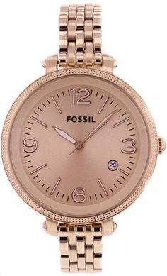 Capri Jewelers Arizona ~ www.caprijewelersaz.com  Fossil Watch Women's ES3130 Stainless Steel Analog Gold Dial Watch