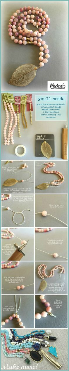 Create an easy stylish pendant necklace using Bead Gallery Beads and Pendants available at Michaels