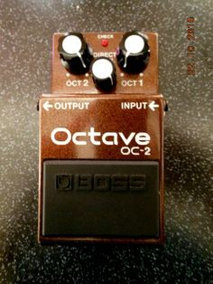 BOSS | OC-2 Octave | 1995 | The legendary Octaver effects ~ popular with #BASS players too! | please follow the link to read my #Review: -