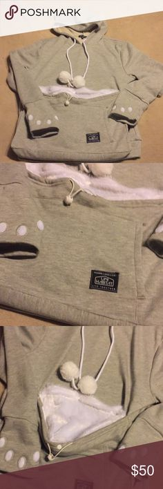 Cat Hoodie with kangaroo pouch Brand New Urban Outfitters Tops Sweatshirts & Hoodies