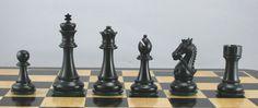 Kings Knight Ebony Chess Set