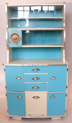 Retro Cabinet Vintage Cabinet Turquoise