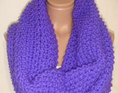 Maglia Loop sciarpa con cappuccio, Extra Large, lana, sciarpa/collo/cappuccio più caldi (fosforico viola) Natale, regalo di stile di Arzu