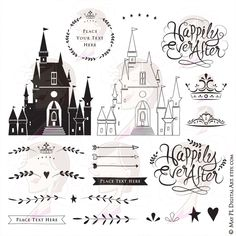 Fairytale Wedding DIY Invitations – include Happily Ever After, Castle, Crowns, Arrows, Laurel Wreath Frame Clip Art – Commercial Use 10159 – Laurel Wreath İdeas. Wedding Clip, Diy Wedding, Wedding Ideas, Wedding Castle, Line Artwork, Diy Invitations, Invites, Fairytale Weddings, Quilling Patterns