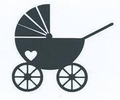 Afbeeldingsresultaat voor silhouet baby kinderwagen