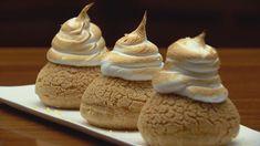 MasterChef - Lemon Meringue Choux - Recipe By: Chloe Carroll - Contestant Master Chef, Meringue Recept, Masterchef Recipes, Cheesecake Trifle, Choux Pastry, Shortcrust Pastry, Profiteroles, Eclairs, Lemon Curd