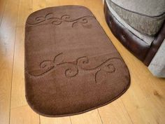 These chestnut brown non shedding rugs are machine washable at 40 degrees which allows for easy maintenance. There non slip backing makes this rug ideal to be placed on all types of surfaces. Machine Washable Rugs, Brown, Brown Colors
