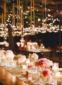 gorgeous #wedding lighting #centerpiece