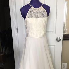 I just added this listing on Poshmark: BCBG LONG WHITE LACE UPPER DRESS. #shopmycloset #poshmark #fashion #shopping #style #forsale #BCBGeneration #Dresses & Skirts