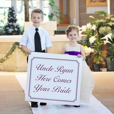 Uncle Ryan Here Comes Your Bride - Custom Printed Wedding Banner  #wedding #banners #decorations