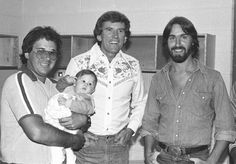 Chuck Morris (and daughter Brittany), Gary Hart and Dan Fogelberg at a fundraiser in Vail for Hart's senate race.  Photo: Chuck Morris Archives