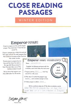 Close reading is a difficult skill for students to master. I complete all of these activities WITH my students in whole group and guided practice fashion. These may be appropriate for higher-level 1st graders or 2nd graders to complete on their own. Download the preview to check it out!