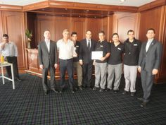 On March 6th we had a double celebration at the Hilton Park Nicosia. Our Maintenance Department was awarded with a trophy and certificate for the 2013 Driving Value Campaign from Darren Cook and Ivo Klinkov. We also celebrated Darren Cook's promotion. Great job team!