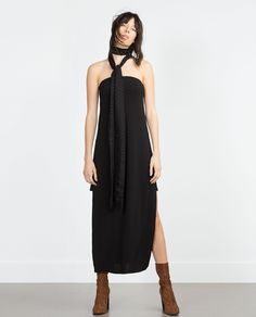 DRESS WITH SHOULDER SLITS - View all - Dresses - WOMAN | ZARA United States