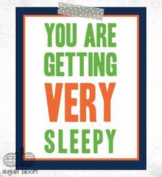 You Are Getting Very Sleepy Personalized Nursery Art by AugustBloomDesigns, $11.95