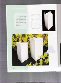 cajas plegables: libros de origami - artesanías Ideas - manualidades para niños