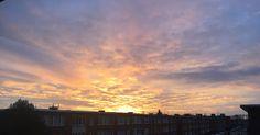 Goodmorning new neighborhood! #deurne #pinksky