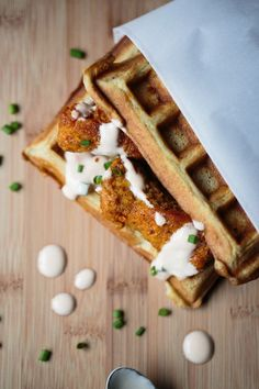 Chicken N Waffles with a Spicy Sweet Sriracha Maple Sauce | This Wild Season