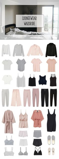Loungewear capsule wardrobe Capsule Wardrobe Mom, Capsule Outfits, Fashion Capsule, Wardrobe Basics, Fashion Outfits, Loungewear Outfits, Loungewear Set, Basic Outfits, Cute Outfits
