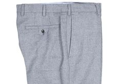 Howard Yount blue pick-and-pick wool trousers