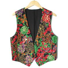 DIY Christmas Bows Tacky Ugly Fabric Vest