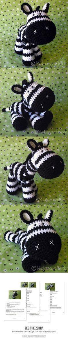 Zeb The Zebra Amigurumi Pattern