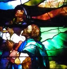 LaFarge Chancel Windows;Trinity Episcopal Church; 389 Delaware Avenue, Buffalo, NY  Designer: John LaFarge  Date installed: 1886   Style: Opalescent  Detail of faces of Magi in the Epiphany window.