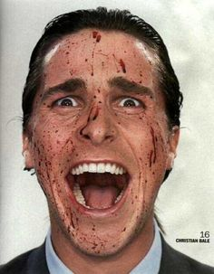 American Psycho - proving funny can be terrifying. Thank you Humour in Fiction & Film professor for that eye-opener.