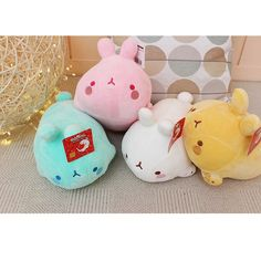 """Authentic Rabbit Character Molang Soft Laying Plush Doll Small Size 25cm 10"""" #Molang"""