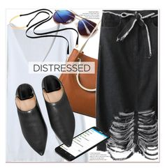 """""""True Blue: Distressed Denim"""" by paculi ❤ liked on Polyvore featuring ASUS and distresseddenim"""