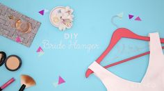 Watch this wedding DIY video tutorial to learn how to make a bride hanger for your dress.
