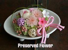 【再販】和風プリザーブドフラワー 和モダ ン ピンク 響花