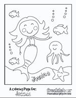 Fun personalized coloring pages (Free).  They also have personalized books and coloring books for purchase
