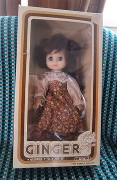 Ginger by Larco Vintage Sleepy Eye Doll Made in Hong Kong Fully Jointed Rooted Hair New in Old Package Little Red Riding, Red Riding Hood, Sleeping Beauty Fairies, Vintage Playmates, Happy Holidays Barbie, Mermaid Outfit, Baby Girl Dolls, Old Boxes, Raggedy Ann And Andy