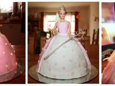 Bolo Barbie, Barbie Cake, Barbie Dress, Doll Birthday Cake, Girl Birthday Themes, Princess Birthday, Birthday Ideas, Prince Cake, Dress Cake