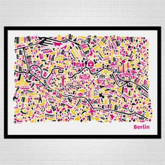 City Map Poster Berlin by Vianina Poster