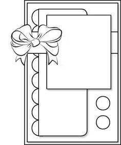 CHALLENGE DE JANVIER Scrapbook Patterns, Scrapbook Sketches, Card Sketches, Scrapbook Cards, Fancy Fold Cards, Folded Cards, Card Making Templates, Cricut Cards, Card Patterns