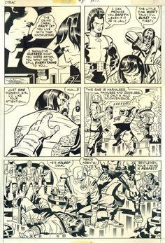 Original Comic Art titled KIRBY Omac, located in F's Auction Sale 7 decembre 2013 Paris Comic Art Gallery Comic Book Pages, Comic Book Artists, Comic Artist, Comic Books Art, Jack King, Jack Kirby Art, Book Creator, Dc Comics Art, Comic Panels