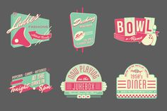 1950s Storefront - Vector Badges and Logos