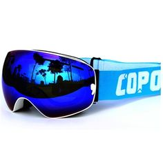 Hit the slopes and stand out with the COPOZZ White Purple Wide Angle Spherical Goggles! These goggles feature an anti scratch, UV protection mirror lens, and triple layer comfort foam interior. What's even better is that you can wear your glasses right underneath them!