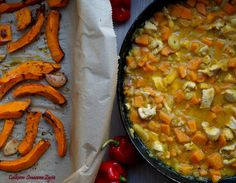 Quite Tasty Life: chicken casserole with pumpkin and leek