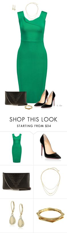 """Roland Mouret"" by ksims-1 ❤ liked on Polyvore featuring Roland Mouret, Christian Louboutin, Gorjana, Carolee and Rachel Zoe"