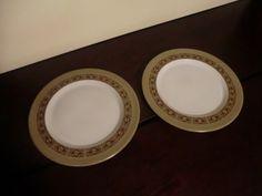 2 Mikasa Painted Sand dinner plates. $23.00, via Etsy.