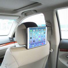 TFY Car Headrest Mount Holder for iPad Air (iPad 5 5th Generation), Fast-Attach Fast-Release Edition, Black TFY http://www.amazon.com/dp/B00GCXZYDW/ref=cm_sw_r_pi_dp_tJMuvb1G3677A