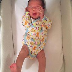5 day old. @superknoxzilla  So precious. Wearing our cute Jungle Boogie print onzie. #zutano #uniqueasyourbaby #newborn #love