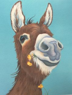 """""""Jenny"""" the donkey painting"""