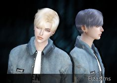 Sims 4 CC's - The Best: Male Hair by Elzasims