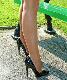 Dusty Pink Lace Detail Asymmetric Hem Midi Dress - Weddings - Shop By. Men In Heels, Sexy Legs And Heels, Black High Heels, High Heel Boots, High Heel Pumps, Pumps Heels, Stiletto Heels, Pantyhose Heels, Stockings Heels