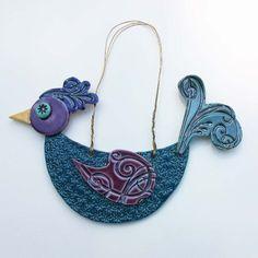 Ceramics bird cage pendant necklace vintage folksy | Pottery | Popular Crafts | Craft Juice