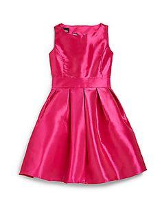Un Deux Trois Girl's Taffeta Heart-Back Party Dress